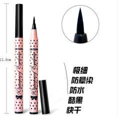 1 ADET SıCAK Kadınlar Lady Güzellik Makyaj Siyah Eyeliner Su Geçirmez uzun ömürlü Sıvı Eyeliner Kalem Kalem Makyaj Kozmetik Sevimli aracı