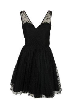 Milly Womens Black Grace Gathered Swiss Dot Tulle Sleeveless Dress 4 $595 New #Milly #TeaDress