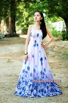 Dress Maxi Dress Women Prom Long Change Tone Blue Bridesmaid Dress 1X 2X 3X 4X by myuniverse. Explore more products on http://myuniverse.etsy.com