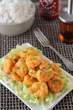 Crunchy baked Bang Bang Shrimp from Olga's Flavor Factory