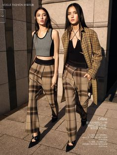 Top Trends From 2016 Spring Summer: Luping Wang and Tiana Tolstoi by KT Auleta for Vogue China February 2016 - Celine Spring 2016