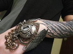 Winged watch cuff by Pinkabsinthe.deviantart.com on @DeviantArt