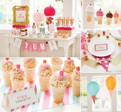 So excited to finally share the Ice Cream Shoppe Birthday Party I styled for pottery barn kids {+ Free Printables for you!} #IceCream #IceCreamParty #FreePrintables