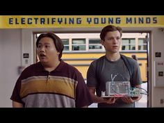Peter and Ned go to a REALLY smart school. Watch us take on a science fair with the help of at audi.us/SpiderMan Tom Holland Zendaya, Audi Usa, Parker Spiderman, Youtube Share, Studios, Jackson, Smart School, Tom Holland Peter Parker, Science Fair