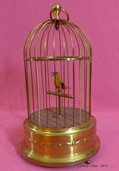 Automaton - Karl Griesbaum Singing Bird in Cage - 1920's..