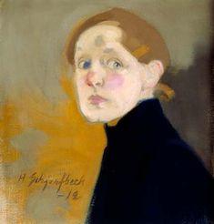 Hélène Schjerfbeck - Autoportrait . 1912 (Huile sur toile, 43.5 x 42 cm)