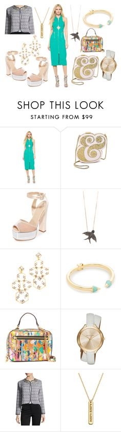 """""""Beautiful is what you See....!!!"""" by hillarymaguire ❤ liked on Polyvore featuring Dion Lee, Kate Spade, Giuseppe Zanotti, MAHA LOZI, Erickson Beamon, Vita Fede, Milly, MICHAEL Michael Kors, Neiman Marcus and Coordinates Collection"""