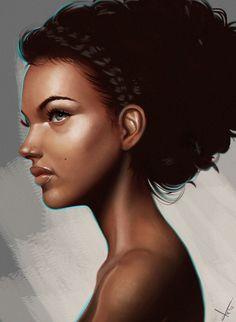 ArtStation - Curly Girl, Victor Lozada