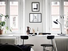Graphic home with a natural touch - via Coco Lapine Design