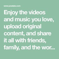 Enjoy the videos and music you love, upload original content, and You Videos, Music Videos, Youtube Website, Copyright Act, Channel, Financial Information, Billie Holiday, Music Love, Music Music