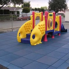 """Rubber-Cal """"Eco-Safety"""" Interlocking Playground Tiles - x x inch - Pack of 10 Playground Mats, 28 Square Feet Coverage - Black Playground Mats, Playground Safety, Playground Flooring, Outdoor Playground, Playground Ideas, Rubber Tiles, Rubber Floor Mats, Rubber Flooring, Rubber Mat"""