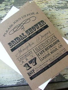 Bridal Shower Invitations DIY or printed by sweetinvitationco, $50.00