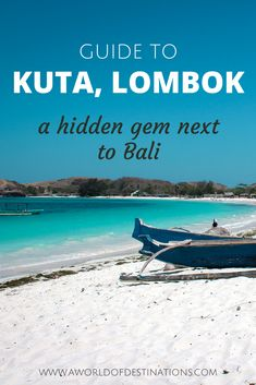 Kuta is a small beach town on the island Lombok in Indonesia. Lombok is the less visited and less developed neighbouring island of Bali. From being outdoor-active by doing water sports or hiking to relaxing on one of the dreamy beaches – you won't run out of things to do in Kuta. #Kuta #Lombok #Indonesia #OffTheBeatenPath Best Places To Travel, Cool Places To Visit, Bali Travel, Travel Abroad, Beach Town, Lombok, Ultimate Travel, Kuta, Southeast Asia