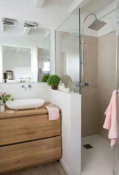 Bathroom with shower cabin - . - cabin - Badezimmer mit Duschkabine – – Bathroom with shower cabin – … – cabin House, House Bathroom, Interior, Home, Bathroom Interior, Shower Cabin, Cabin Bathrooms, Bathrooms Remodel, Bathroom Renovation