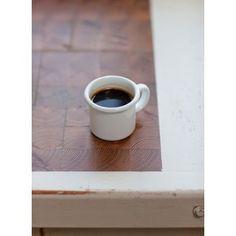 White Enamel Espresso Mug - from eggcup & blanket UK Industrial Chic Kitchen, White Enamel, Simple House, Kitchen Accessories, Espresso, Kitchen Dining, Jar, Mugs, Cooking