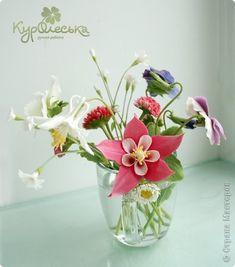 Clay handmade flowers by Kuroleska Флористика Лепка Дачный букет Холодный фарфор Фарфор холодный фото 2