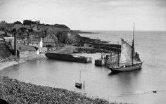 Collection Name Erskine Beveridge Collection Date c. 1890 Caption View of Crail harbour, Shoregate, from south west. Old London, Far Away, Glasgow, Old Photos, Landscape Photography, Paris Skyline, Scotland, Sailing, Old Things