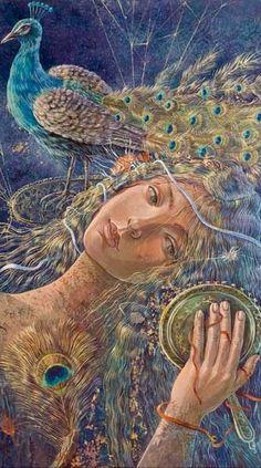 Peacock Art... by Artist Daniela Zekina...
