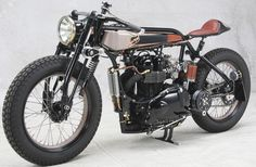 """LC FABRICATIONS # 1910 Triumph TT Deluxe """"3"""" Cafe Racer"""