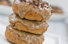 chocolate chip vegan doughnuts  1/2 cup non-dairy milk  1/4 cup Earth Balance, melted  3 tbsp applesauce  1 tsp vanilla extract  1/2 tsp apple cider vinegar (or white vinegar)  1 cup whole wheat pastry flour (or all purpose)  1/2 cup organic cane sugar (or white sugar)