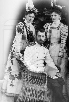 It was on a cool July night in 1918 when the Bolsheviks executed the Romanovs, Russia's last Imperial Family.  Tsar Nicholas II with his wife (right) Empress Alexandra and her sister Grand Duchess Elizabeth. Tragically, all three would perish in July 1918 at the brutal hands of the Bolsheviks.