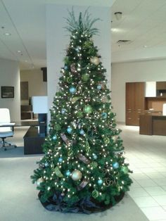 Corporate Christmas Tree with Corporate Colors