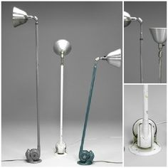 This painted metal extending and adjustable wall or ceiling lamp was designed by Johan Petter Johansson  (1853-1943). In 1916 he founded the Triplex Factory. In the mid twenties, Alvar Aalto used this lamp in his interiors. Also, widely used in interiors at the Stockholm Exhibition 1930.