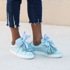 Women S Golf Shoes Clearance Blue Puma Suede, Diy Wedding Shoes, Sneakers Fashion, Fashion Shoes, Pom Pom Sandals, Clearance Shoes, Blue Sneakers, Shoe Art, Sewing Techniques