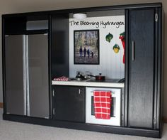 DIY Entertainment Center Into a Play Kitchen. I NEED TO FIND AN ENTERTAINMENT CENTER.