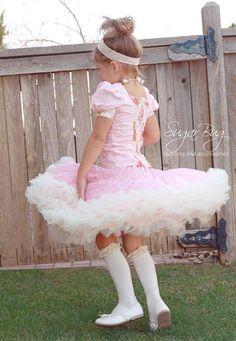 LULU  ruffled pettiskirt skirt for girls & by TULIPSandEDELWEISS