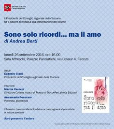 """29.9.2016 - Presentazione libro """"Sono solo ricordi… ma li amo"""" di Andrea Berti"""