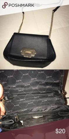 Aldo purse Black purse with gold embellishments Aldo Bags Crossbody Bags   aldowomenbags Aldo Purses 1a9757590bc16
