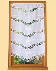 Katie design ORNAMENTAL Madras LACE curtaining ~66 Top Design House New old stock ecru