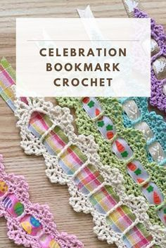 So take a look at this idea of a beautiful and delicate Celebration Bookmark Crochet and creative ideas on how to organize Hairpin Lace Crochet, Crochet Doilies, Crochet Stitches, Crochet Patterns, Quick Crochet, Free Crochet, Knit Crochet, Crochet Geek, Crochet Things