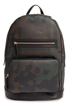 'Marden' Camo Print Backpack