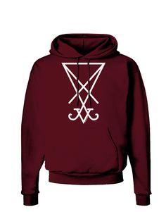 TooLoud Sigil of Lucifer - Seal of Satan Dark Hoodie Sweatshirt