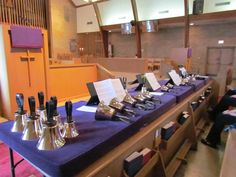 Handbells at Trinity Episcopal Church in Baton Rouge, LA.