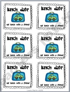 classroom coupons--this one is for a lunch date with a friend