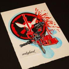 Deadpool tattoo design by @ankafaink