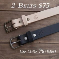 Pick up 2 belts for $75 with code 75combo.