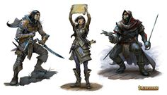The map reader in the middle of the image - smart, practical adventurers are my absolute favorite!