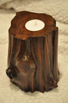 Cedar Driftwood Tea Light Candle