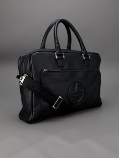 Giorgio Armani raised logo briefcase