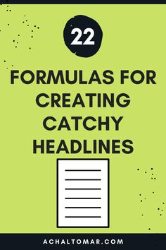 Learn the 22 Formulas For Creating Catchy Headlines / Blog Titles That Get Clicked. These catchy headlines get more clicks in search results and provide a positive signal to search engines to push your blog on top of the search engine results page (SERP). Affiliate Marketing, Online Marketing, Social Media Marketing, Digital Marketing, Make Money Blogging, How To Make Money, Group Boards, Blogging For Beginners
