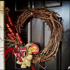 My own version of the Lunar New Year wreath.