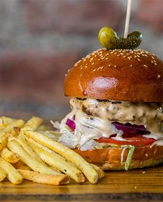Volcano Burgers | OK Foods Sauteed Mushrooms, Burger Buns, Burgers, Top Bun, Sweet Chilli Sauce, Lemon Pepper, Cheese Sauce, Volcano, Hamburgers