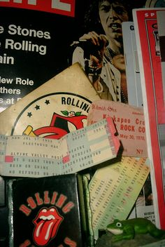 Rolling Stone Cover - Life Magazine, ticket stubs