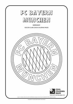 cool coloring pages soccer club logos fc bayern munchen logo coloring page with