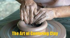 Un-centered clay wants to fly off the wheel, but what a joy it is to submit to the Potter's Hands! http://blog.forerunners4him.org/the-art-of-centering-clay/