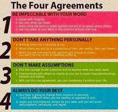 The Four Agreements apply to being an Inspired Leader. How are you doing at living The Four Agreements in your leadership role?
